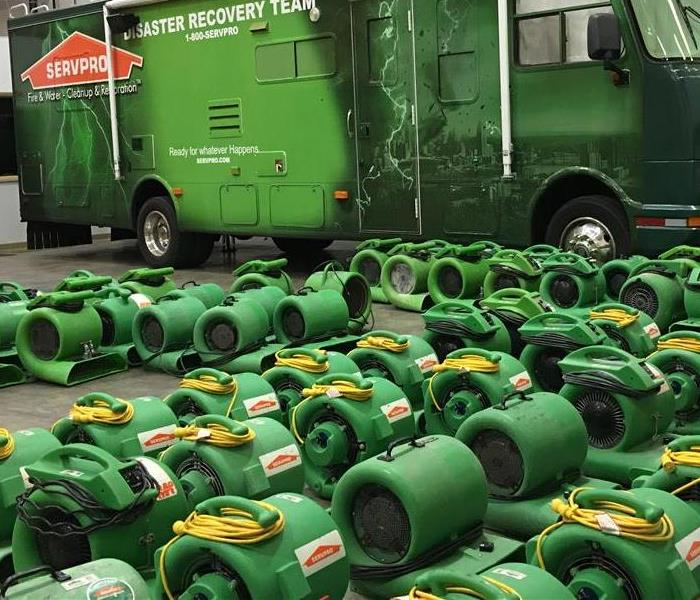 Water Damage SERVPRO of Northeast Cincinnati Uses Advanced Equipment in the Water Restoration Process